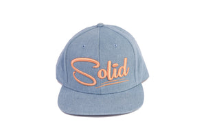 """Solid"" Baby Blue/Gold Denim"