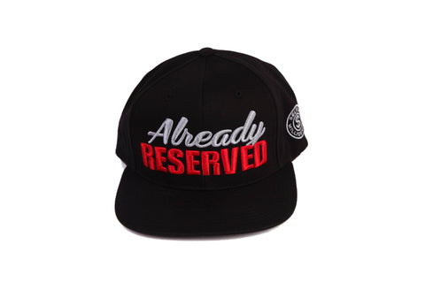 """Already"" Blk/Red-White Cap"
