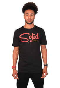 """Solid"" Black/Red T-Shirt"