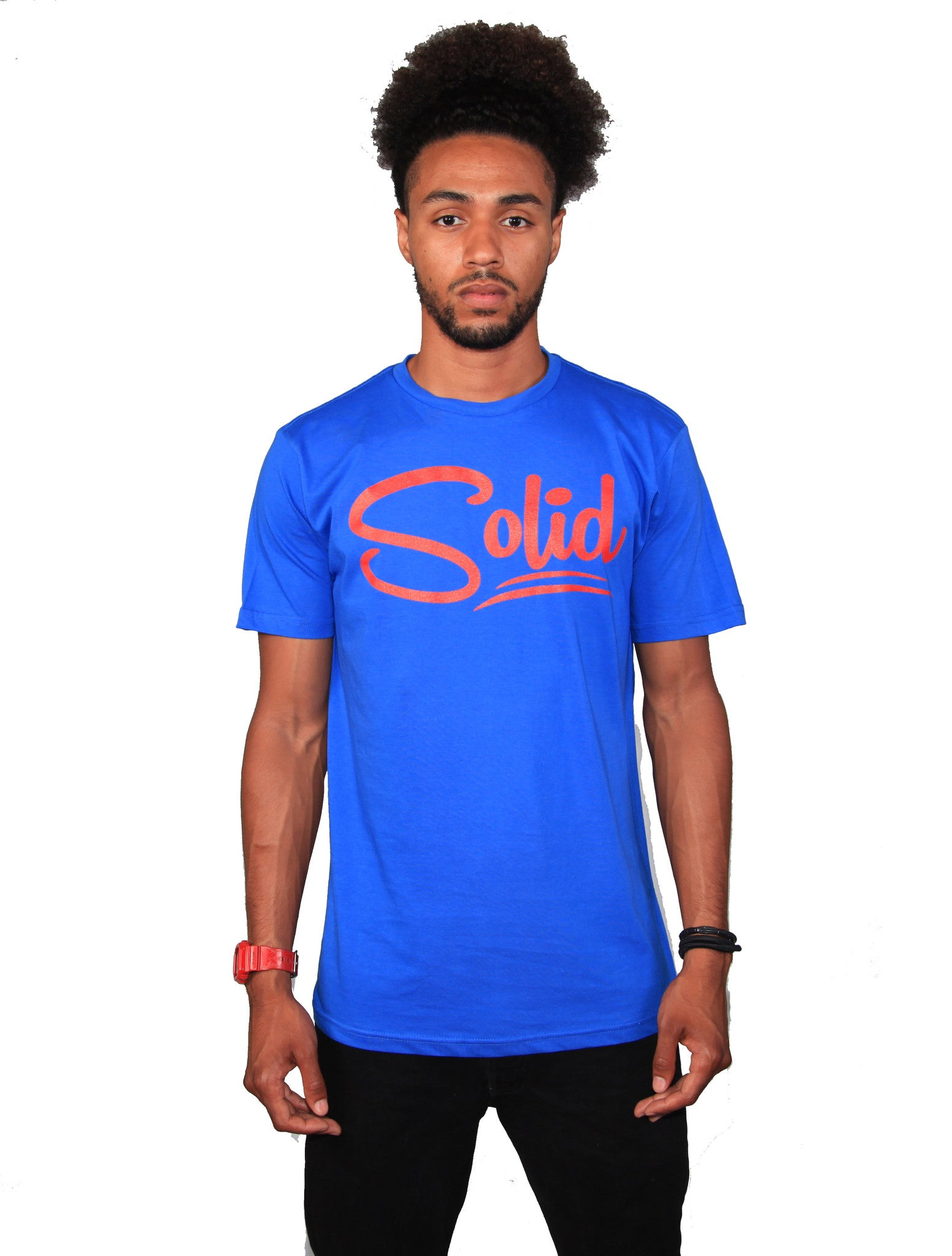 """Solid"" Blue/Red T-Shirt"