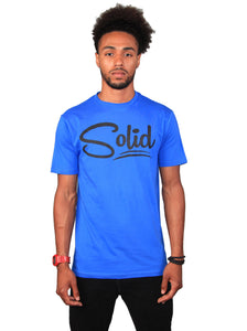 """Solid"" Blue/Black T-Shirt"
