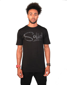 """Solid"" Black/Black T-Shirt"