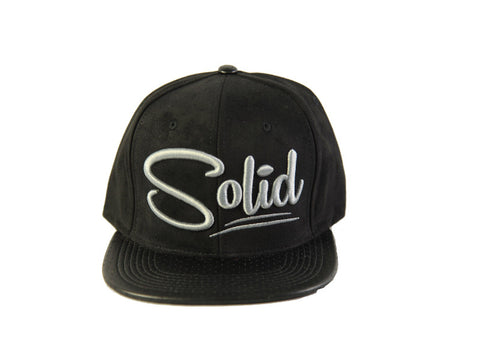 """Solid"" Black Suede"