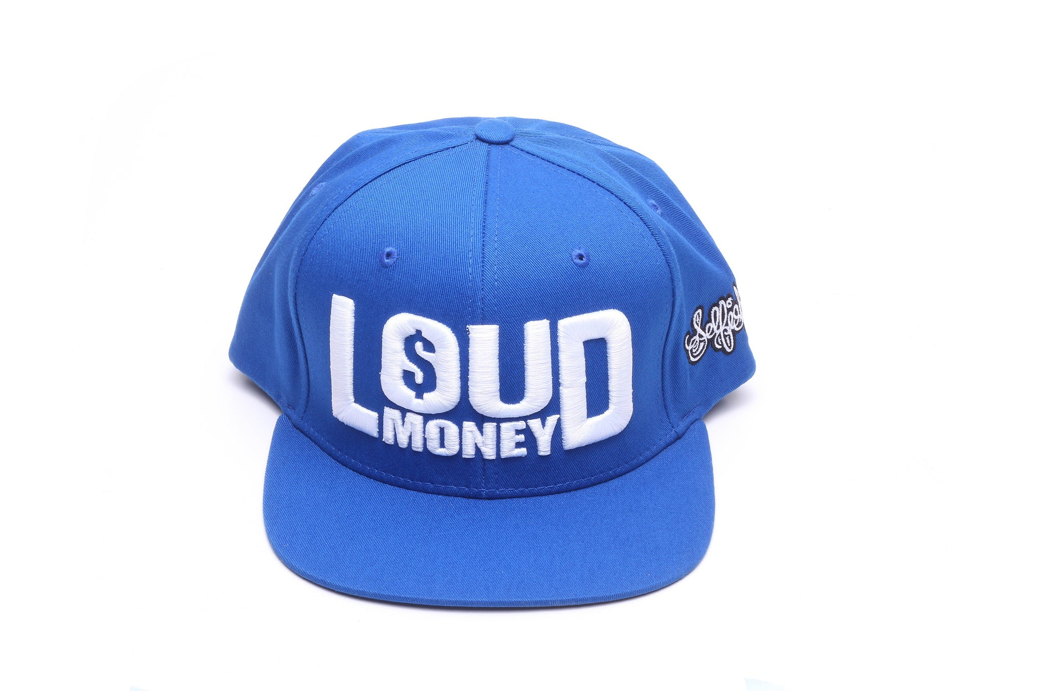 """Loud Money"" Blue/White Snapback Cap"
