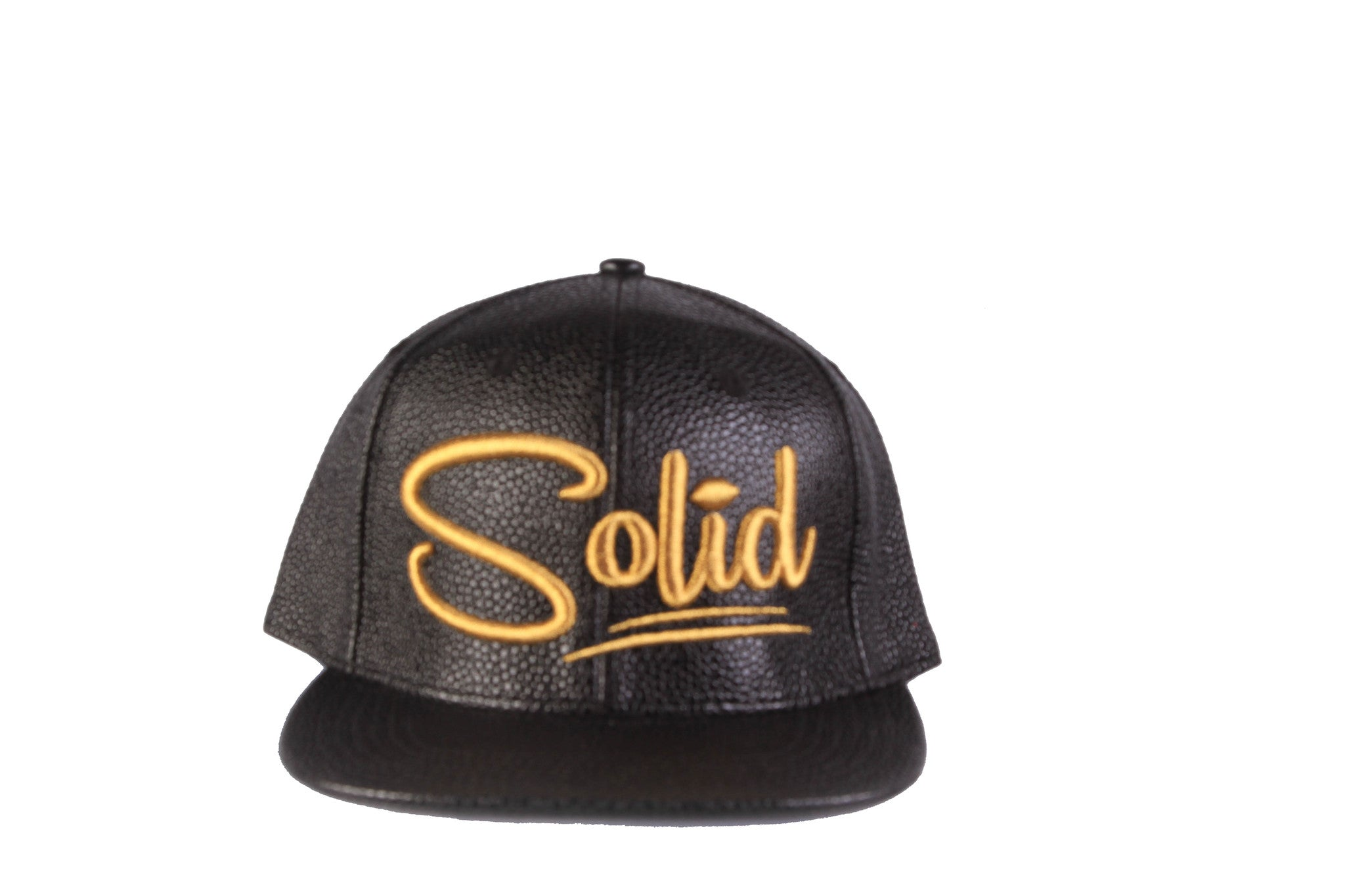 """Solid"" PU Gold Cap"