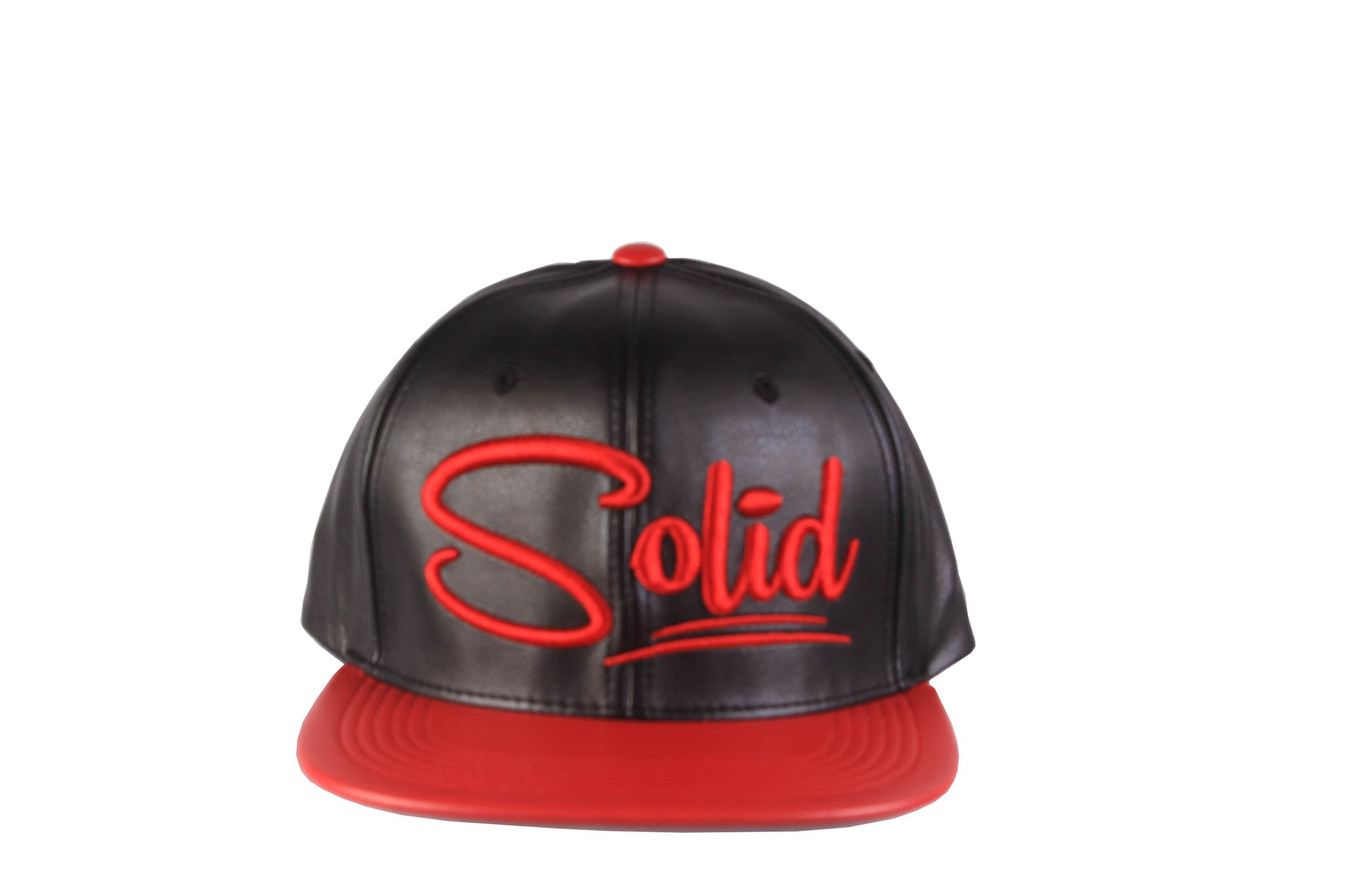 """Solid"" Black/Red PU"