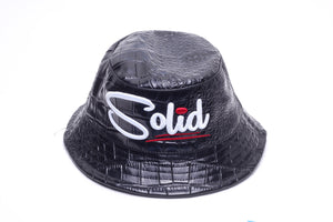 """Solid"" Black Snake Bucket Hat"
