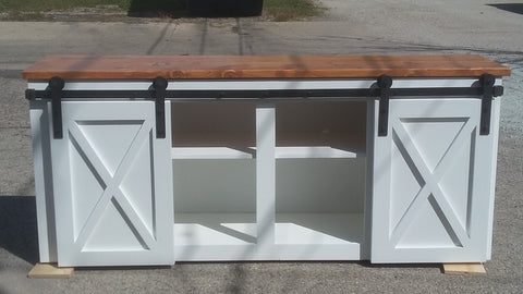 Large sliding barn door buffet