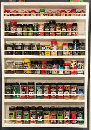 spice rack, door mounted spice rack, spice organizer
