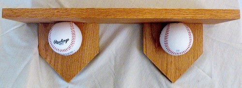 Baseball shelf for the man cave, kids room to show off your favorite team.