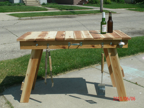 Folding Grill Table
