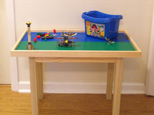 "Super Large activity and building block table 12 plates with 29"" legs."
