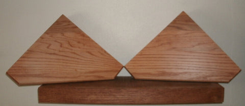 Corner Shelf, geometric design, pair.