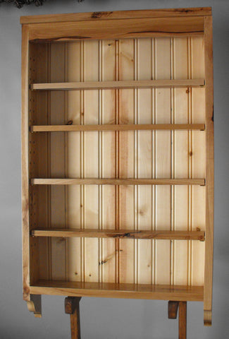 Spice Rack, Rustic Hickory