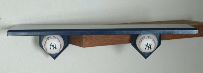 Baseball motif shelf