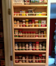 Spice rack, door mounted