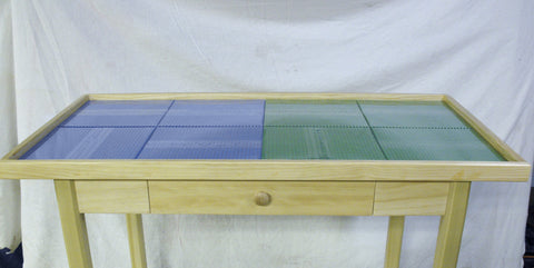 Deluxe Extra Large 8 plate lego table with wood drawer.