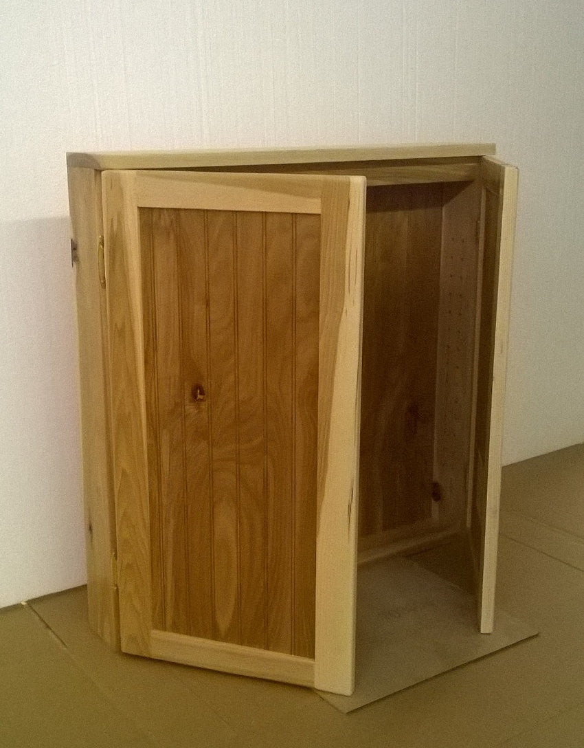 2 door hickory wood cabinet, can be used for spice storage, or storage cabinet.
