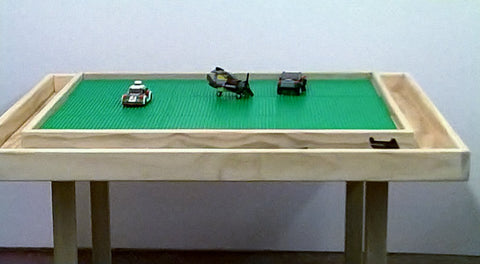 Lego table large with storage troth