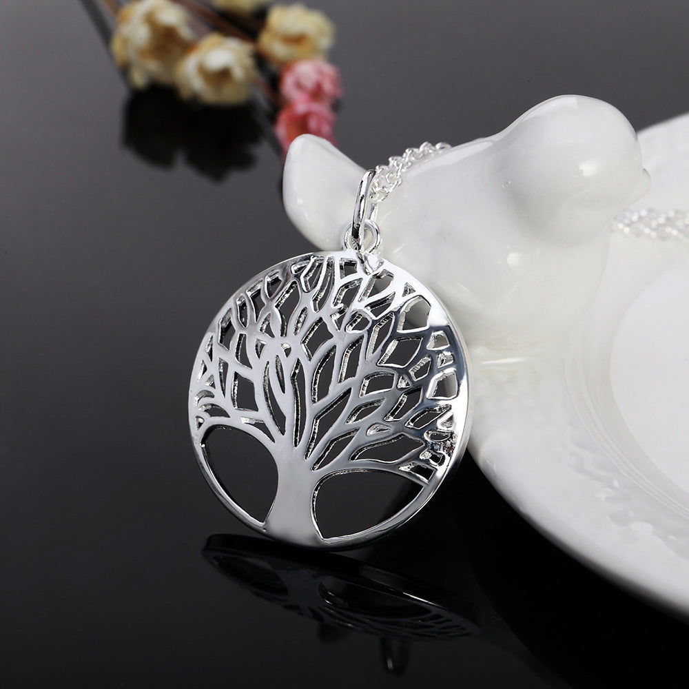 silver tree of life pendant necklace