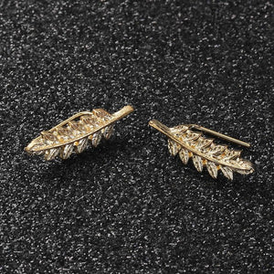 pair of gold plated earrings