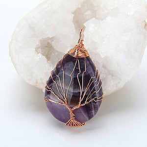 violet tree of life pendant
