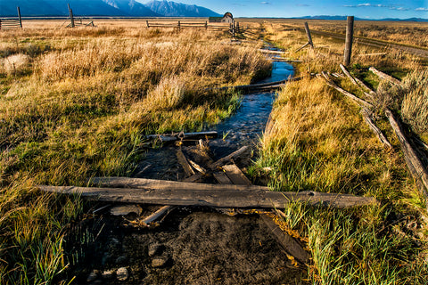 Teton stream at Moulton Barn large canvas prints
