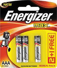 3 Packs of 3 Batteries - Energizer MAX AAA