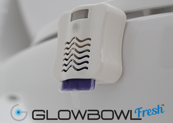 GlowBowl Fresh - Motion Activated Toilet Nightlight with Air Freshener