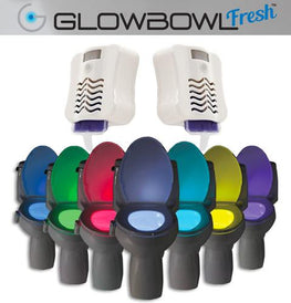 GlowBowl Fresh 2-Pack - Motion Activated Toilet Nightlight with Air Freshener