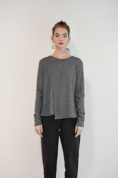 Easy Side Split Tee Sweater