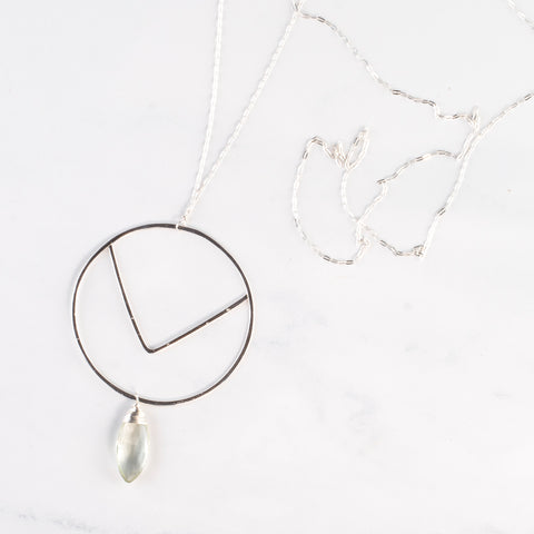 STERLING CLUSTER NECKLACE