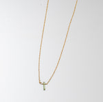 Raw Tourmaline Dainty Necklace