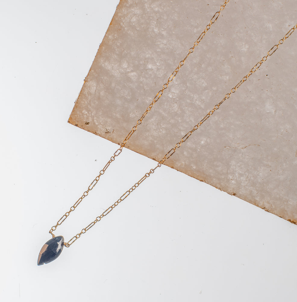 Single Stone Staple Necklace