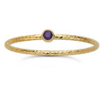 Tiny Twist Gemstone Stacking Ring