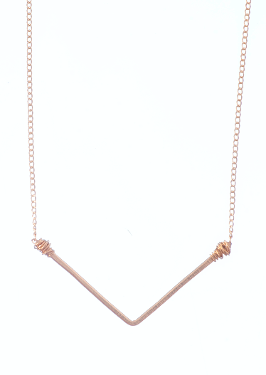 Load image into Gallery viewer, Wide 'V' Necklace