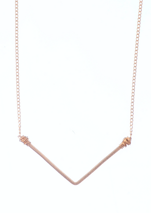 Wide 'V' Necklace