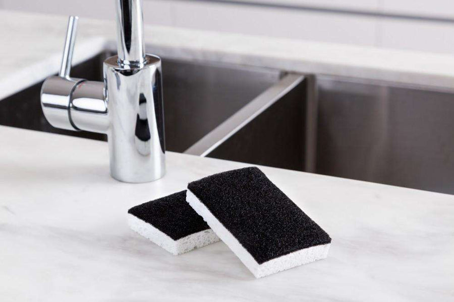 Barkly Basics Black & White Scourer Sponge | Simple Style CO