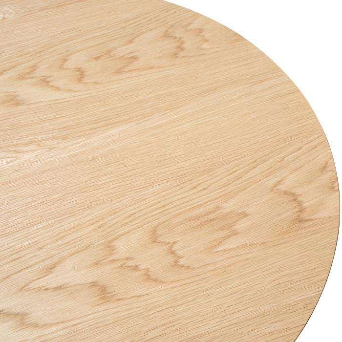 Simple Style Co: Rayna 90cm Round Wooden Coffee Table - Natural Oak