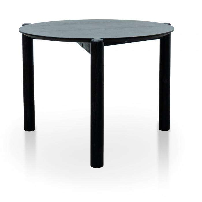 Kinsley Wooden Round Coffee Table Nest - Black - Simple Style Co