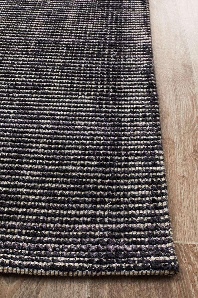Leni Hand Loomed Cotton Rug - Midnight