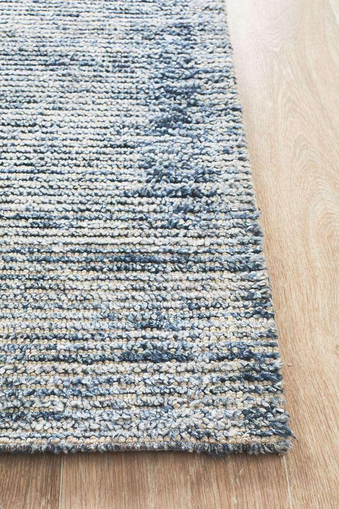 Leni Hand Loomed Cotton Rug Indigo | Free Delivery | Simple Style Co