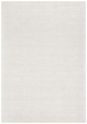 Leni Hand Loomed Cotton Rug - Ivory - Simple Style Co