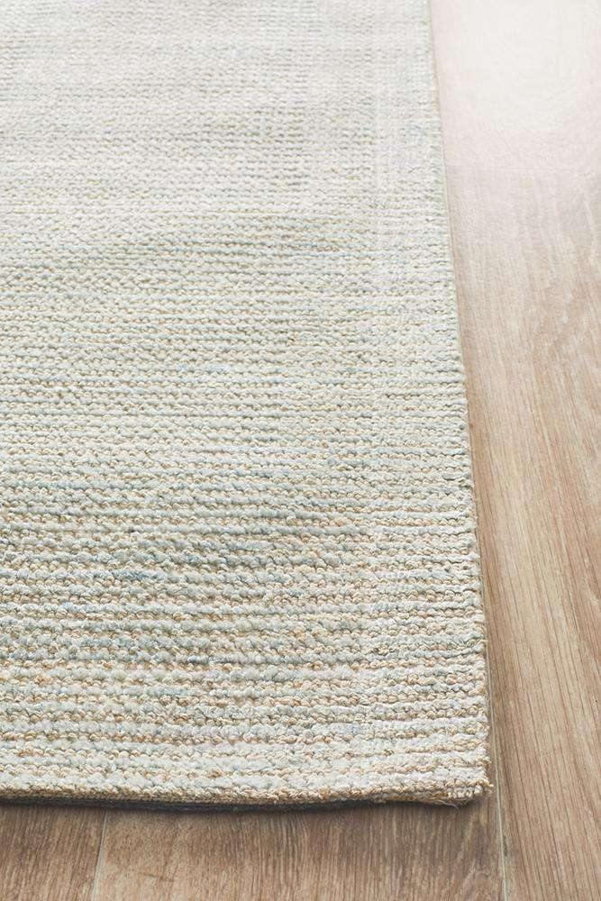 Leni Hand Loomed Cotton Rug - Sky