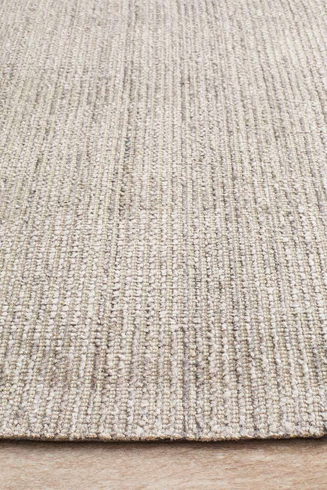 Leni Hand Loomed Cotton Rug - Stone - Simple Style Co