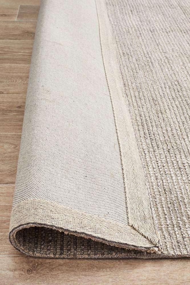 Leni Hand Loomed Cotton Rug - Stone