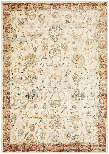 Simple Style Co: Sylvia Transitional Rug Ivory - Free Delivery Australia Wide
