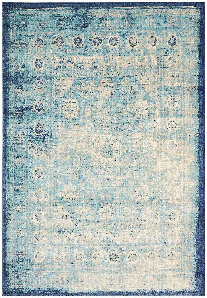 Simple Style Co: Umbría Transitional Rug Blue | Free Delivery Australia Wide