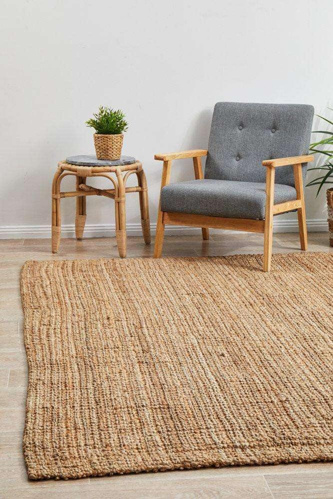 Kailua Natural Chunky Jute Rug | Coastal Rugs | Simple Style Co