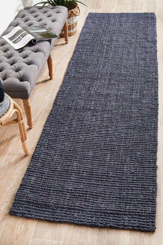 Anahola Chunky Jute Rug Navy | Jute Rugs | Simple Style Co